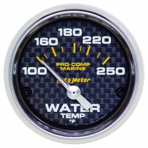 AUTO METER #200762-40 2-1/16 Water Temp Gauge 100-250F C/F Marine