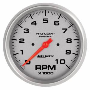 AUTO METER #200801-33 5in U/L Tachometer Gauge 10000 RPM Silver