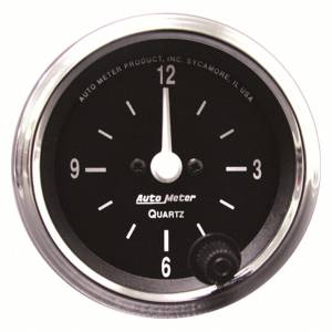 AUTO METER #201019 2-1/16 12-Volt Electric Clock - Black