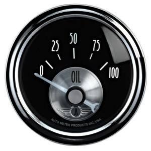 AUTO METER #2028 2-1/16 B/D Oil Pressure Gauge 0-100psi