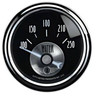 AUTO METER #2038 2-1/16 B/D Water Temp Gauge 150-250 Degrees
