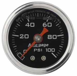 AUTO METER #2174 1-1/2in Pressure Gauge - 0-100psi - Black Face