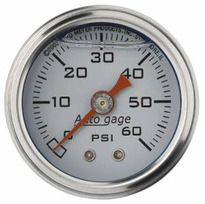 AUTO METER #2176 1-1/2in Pressure Gauge 0-60psi- White