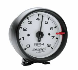 AUTO METER #2303 3-3/4in White Face Tach- Black Cup