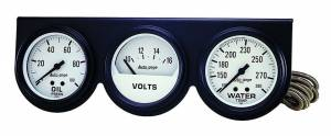 AUTO METER #2328 2-5/8in Oil/Volt/Water Console