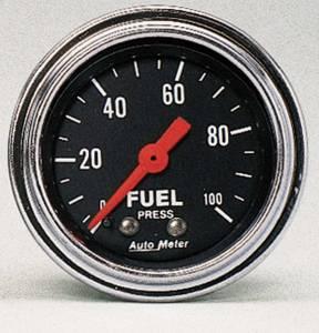 AUTO METER #2412 2in Fuel Press. 0-100 PSI