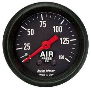 AUTO METER #2620 2-1/16in Z-Series Air Pressure Gauge 0-150psi