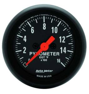 AUTO METER #2654 2-1/16in Z-Series EGT Pyrometer Kit 0-1600