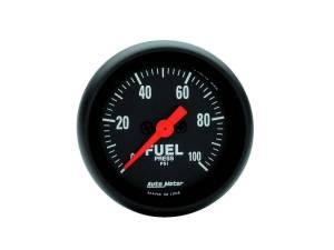 AUTO METER #2663 Z-Series 2-1/16in Fuel Pressure Gauge 0-100psi