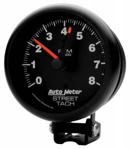 AUTO METER #2894 8000 Rpm Black Tach
