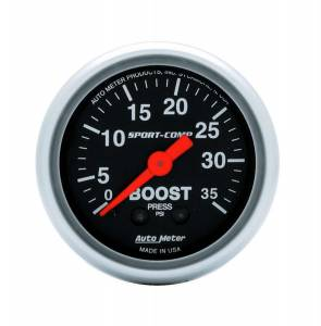 AUTO METER #3304 2-1/16in Sport Comp 0-35 Boost Gauge