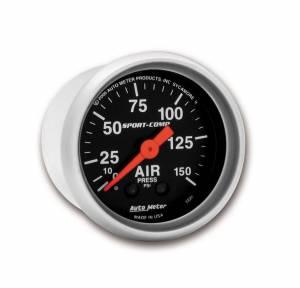 AUTO METER #3320 2-1/16in S/C Air Press. Gauge 0-150psi
