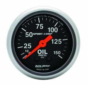 AUTO METER #3323 Sport Comp 2 1/16in Oil 0-150 PSI Mech.