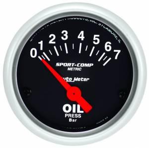 AUTO METER #3327-M 2in Mini S/C Oil Pressure Gauge - Metric