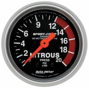 AUTO METER #3328 2-1/16in Sport Comp NOS Pressure Gauge