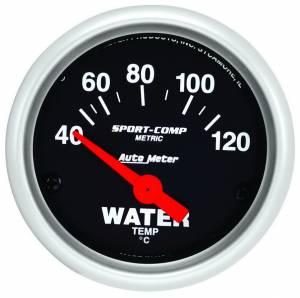 AUTO METER #3337-M 2in Mini Sport Comp Water Temp Gauge -Metric