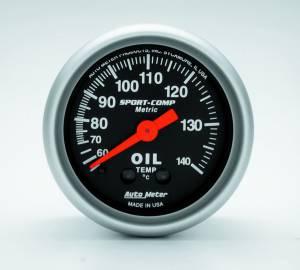 AUTO METER #3341-M 2-1/16 S/C Water Temp Gauge - Metric