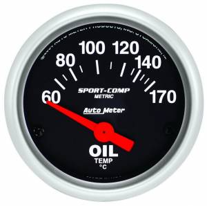 AUTO METER #3348-M 2-1/16 S/C Oil Temp. Gauge 60-170c