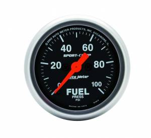 AUTO METER #3363 Sport Comp 2 1/16in Fuel 0-100 PSI Elec.
