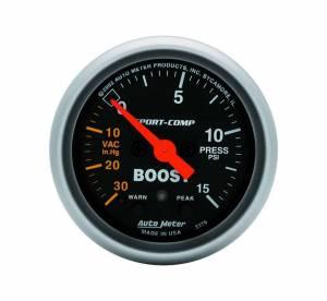 AUTO METER #3376 2-1/16in S/C Boost/Vac. Gauge 30in/15psi