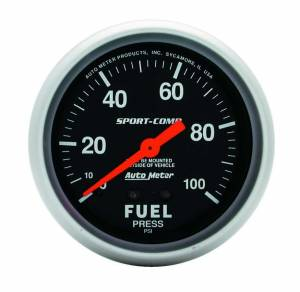AUTO METER #3412 0-100 Fuel Press Gauge