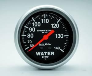 AUTO METER #3431-M 2-5/8in S/C Water Temp. Gauge - Metric