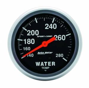 AUTO METER #3431 140-280 Water Temp Gauge