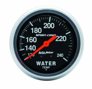 AUTO METER #3433 120-240 Water Temp Gauge