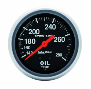 AUTO METER #3443 140-280 Oil Temp Gauge