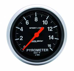 AUTO METER #3544 2-5/8in S/C EGT Pyrometer Kit 0-1600