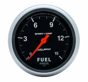 AUTO METER #3561 Sport Comp 2-5/8in Fuel 0-15 PSI Elec.