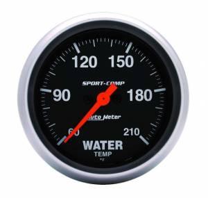 AUTO METER #3569 Sport Comp 2-5/8in Water Temp 60-210 Mech.