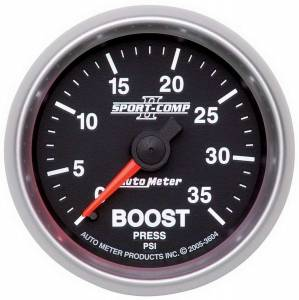 AUTO METER #3604 2-1/16in S/C II Boost Gauge 0-35psi
