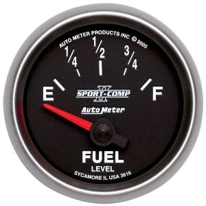 AUTO METER #3616 2-1/16in S/C II Fuel Level Gauge 240-33ohms