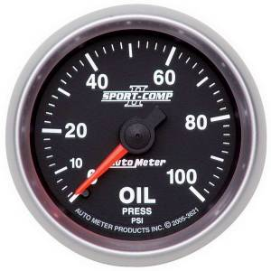 AUTO METER #3621 2-1/16in S/C II Oil Pressure Gauge 0-100psi