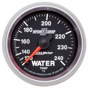 AUTO METER #3632 2-1/16in S/C II Water Temp. Gauge 120-240