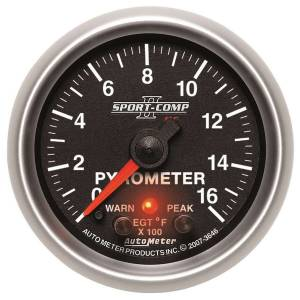 AUTO METER #3646 2-1/16 S/C II Pyrometer Kit 0-1600