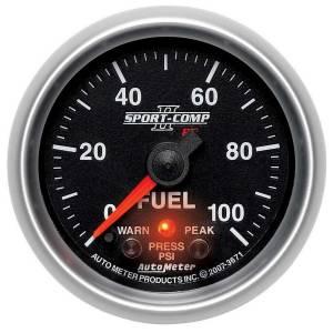 AUTO METER #3671 2-1/16 S/C II Fuel Press Gauge - 0-100psi
