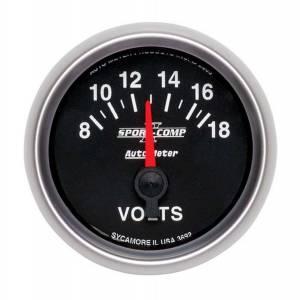 AUTO METER #3692 2-1/16in S/C II Voltmeter 8-18