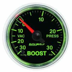 AUTO METER #3803 2-1/16 GS Boost/Vacuum Gauge - HG/30psi