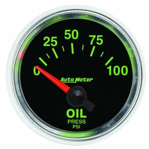AUTO METER #3827 2-1/16 GS Oil Pressure Gauge - 0-100psi