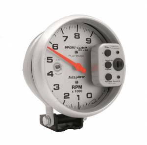 AUTO METER #3964 5in S/C Silver 9000 RPM Playback Tach