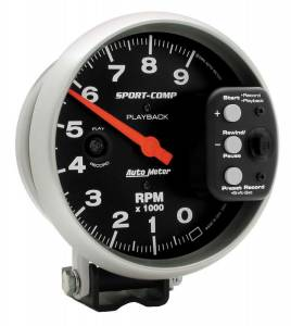 AUTO METER #3966 5in S/C 9000 RPM Playback Tach