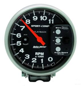 AUTO METER #3967 5in S/C 11000 RPM Playback Tach