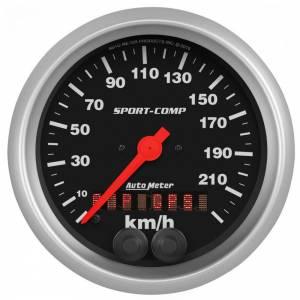 AUTO METER #3982-M Speedometer 3-3/8in 225KM/H Sport-Comp