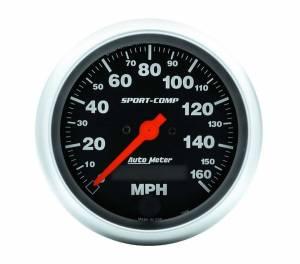 AUTO METER #3988 3-3/8in S/C Electric Speedo - 160MPH