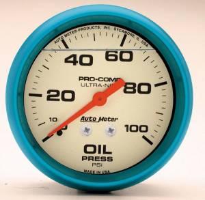 AUTO METER #4221 2-5/8 Ultra-Nite Oil Press. Gauge 0-100psi