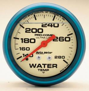 AUTO METER #4231 2-5/8 Ultra-Nite Water Temp Gauge 140-280
