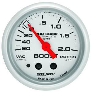 AUTO METER #4303-M 2in Vacuum/Boost Gauge - 60cm hg