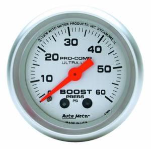 AUTO METER #4305 2-1/16in U/L Boost Gauge 0-60psi